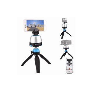 Универсальный трипод PULUZ с пультом ДУ для панорамной, отложенной съемки с креплениями для GoPro, фотокамер, смартфонов