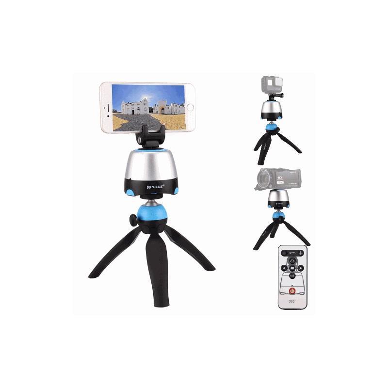 33770 - Универсальный трипод PULUZ с пультом ДУ для панорамной, отложенной съемки с креплениями для GoPro, фотокамер, смартфонов