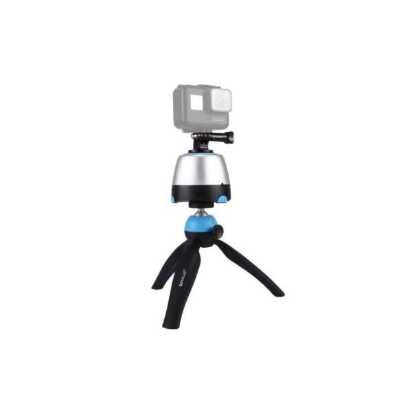 33774 - Универсальный трипод PULUZ с пультом ДУ для панорамной, отложенной съемки с креплениями для GoPro, фотокамер, смартфонов