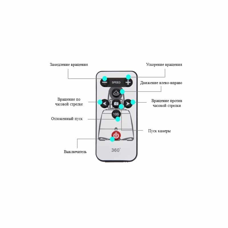 Универсальный трипод PULUZ с пультом ДУ для панорамной, отложенной съемки с креплениями для GoPro, фотокамер, смартфонов 210082