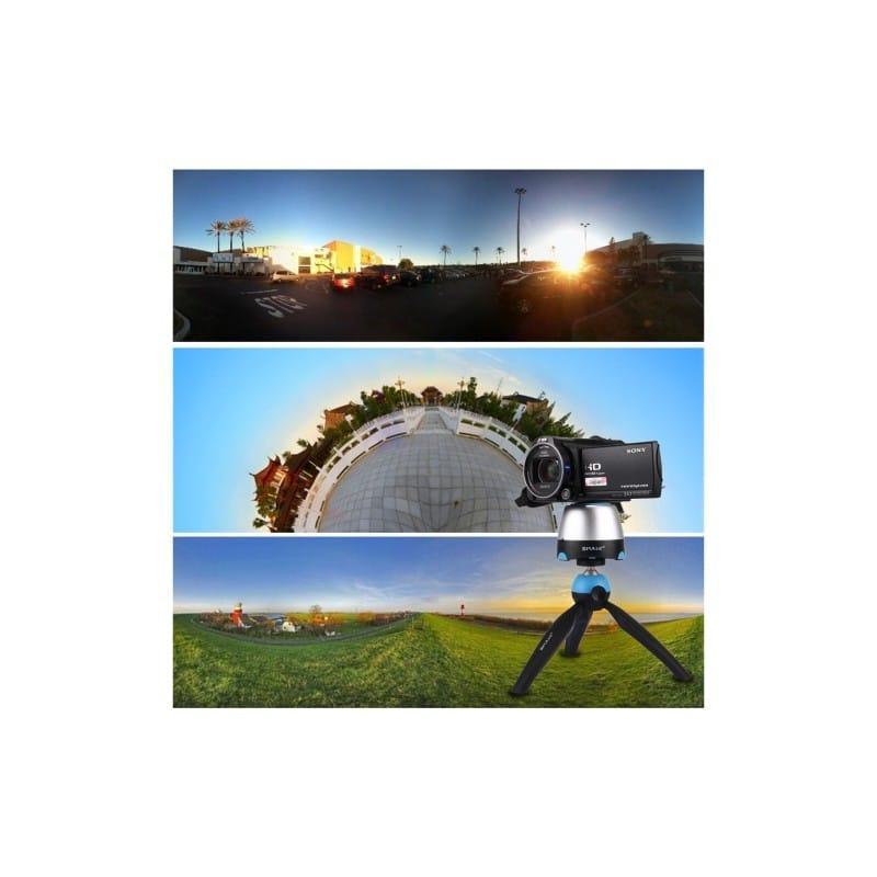 Универсальный трипод PULUZ с пультом ДУ для панорамной, отложенной съемки с креплениями для GoPro, фотокамер, смартфонов 210089