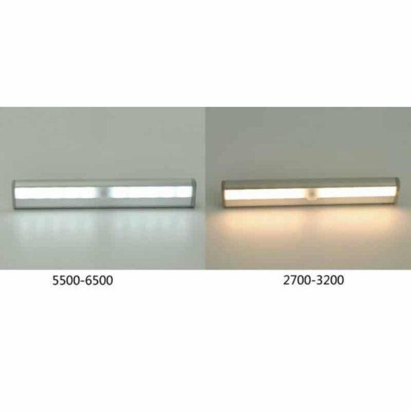 33804 - Светодиодная подсветка 10LED с датчиком движения - 10 светодиодов, PIR до 5 м и 120 градусов, 2700-6500K, зарядка micro USB