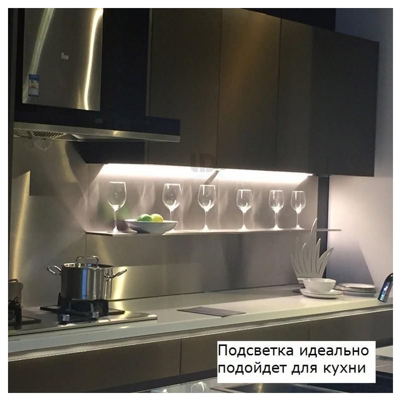 Светодиодная подсветка 10LED с датчиком движения – 10 светодиодов, PIR до 5 м и 120 градусов, 2700-6500K, зарядка micro USB 210108