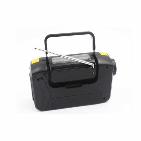 33850 - FM/AM/SW1-SW4 радио 5 в 1: Bluetooth колонка, зарядка для телефона, фонарик, лампа+динамо-машина, солнечная батарея, TF-карта