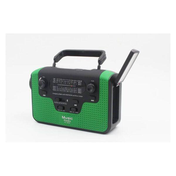 33852 - FM/AM/SW1-SW4 радио 5 в 1: Bluetooth колонка, зарядка для телефона, фонарик, лампа+динамо-машина, солнечная батарея, TF-карта