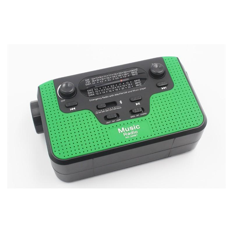 FM/AM/SW1-SW4 радио 5 в 1: Bluetooth колонка, зарядка для телефона, фонарик, лампа+динамо-машина, солнечная батарея, TF-карта 210151