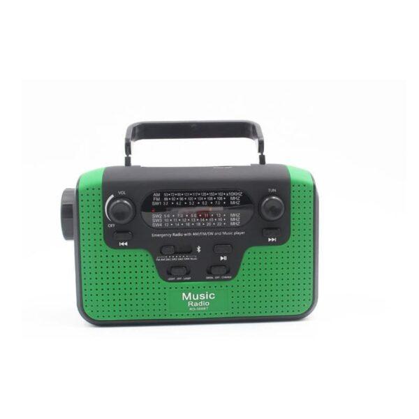 33855 - FM/AM/SW1-SW4 радио 5 в 1: Bluetooth колонка, зарядка для телефона, фонарик, лампа+динамо-машина, солнечная батарея, TF-карта