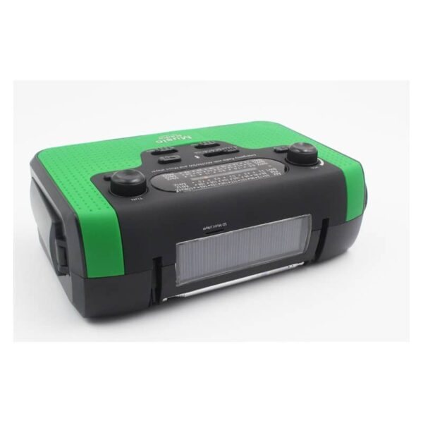 33856 - FM/AM/SW1-SW4 радио 5 в 1: Bluetooth колонка, зарядка для телефона, фонарик, лампа+динамо-машина, солнечная батарея, TF-карта