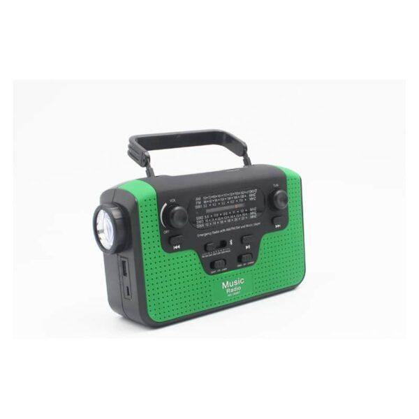 33857 - FM/AM/SW1-SW4 радио 5 в 1: Bluetooth колонка, зарядка для телефона, фонарик, лампа+динамо-машина, солнечная батарея, TF-карта