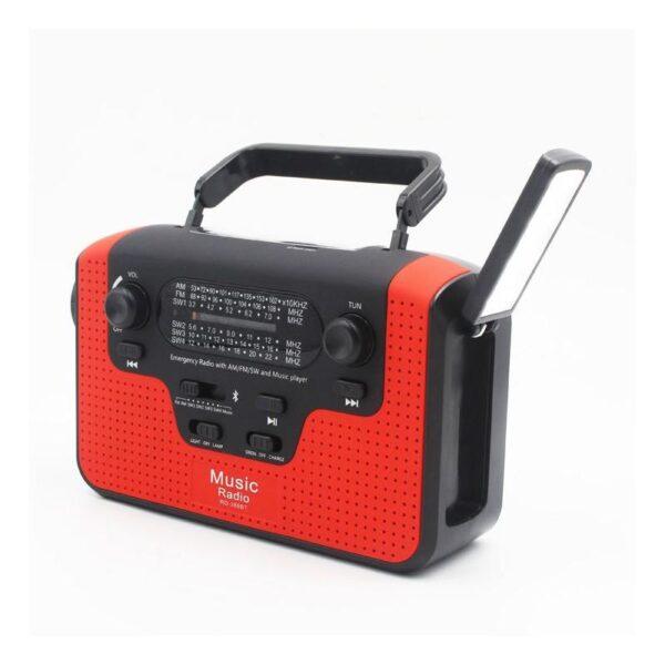 33860 - FM/AM/SW1-SW4 радио 5 в 1: Bluetooth колонка, зарядка для телефона, фонарик, лампа+динамо-машина, солнечная батарея, TF-карта