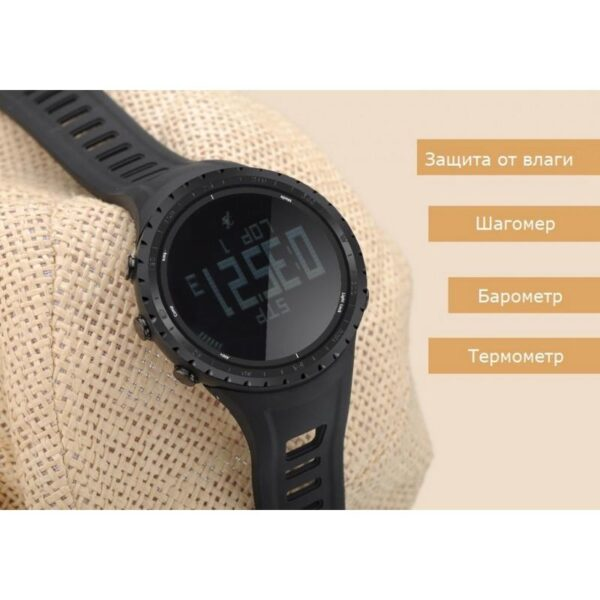 33878 - Водонепроницаемые спортивные часы Sunroad FR801 - шагомер, счетчик калорий, термометр, барометр, высотомер, цифровой компас