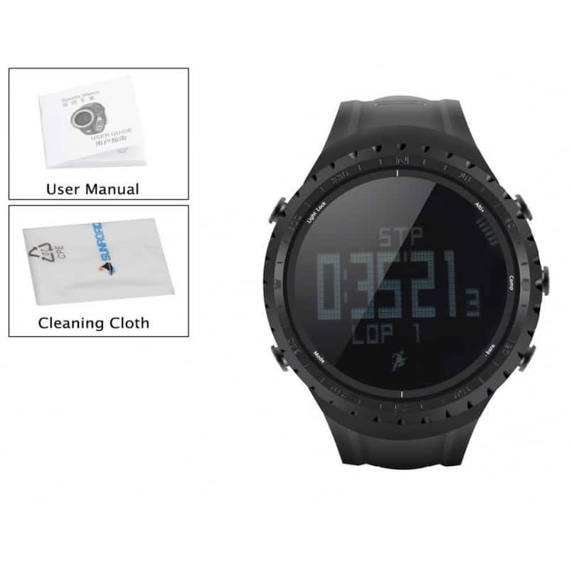Водонепроницаемые спортивные часы Sunroad FR801 – шагомер, счетчик калорий, термометр, барометр, высотомер, цифровой компас 210176