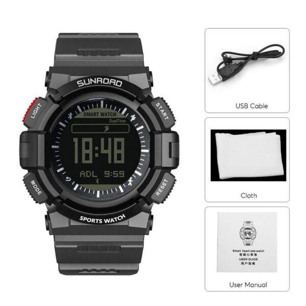 33900 - Умные часы SUNROAD FR9211 - Bluetooth, монитор сердечного ритма