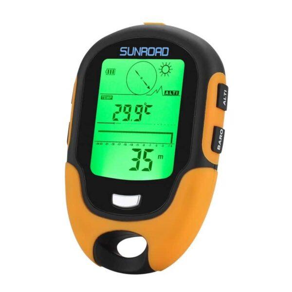 33917 - Многофункциональный портативный альтиметр Sunroad FR500 - барометр, компас, термометр, гигрометр, светодиодный фонарь, IPх4
