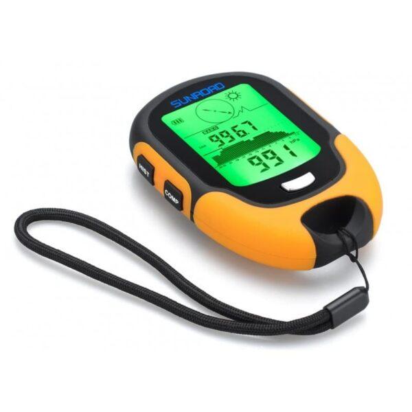 33919 - Многофункциональный портативный альтиметр Sunroad FR500 - барометр, компас, термометр, гигрометр, светодиодный фонарь, IPх4