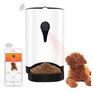 Автоматический податчик корма для животных – удаленное управление, камера 1 Mп, динамик, 4.3 л, поддержка iOS и Android