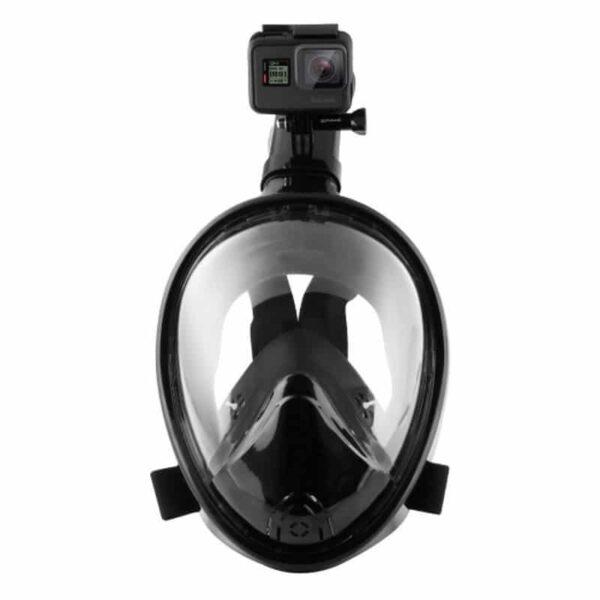 34216 - Дайвинг-маска PULUZ 260 мм - крепление для экшн-камеры, вентиляция, двойной воздушный канал, клапан на дыхательной трубке