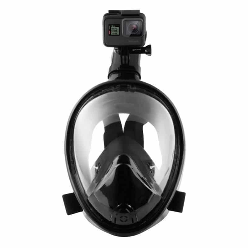 Дайвинг-маска PULUZ 260 мм – крепление для экшн-камеры, вентиляция, двойной воздушный канал, клапан на дыхательной трубке 210476