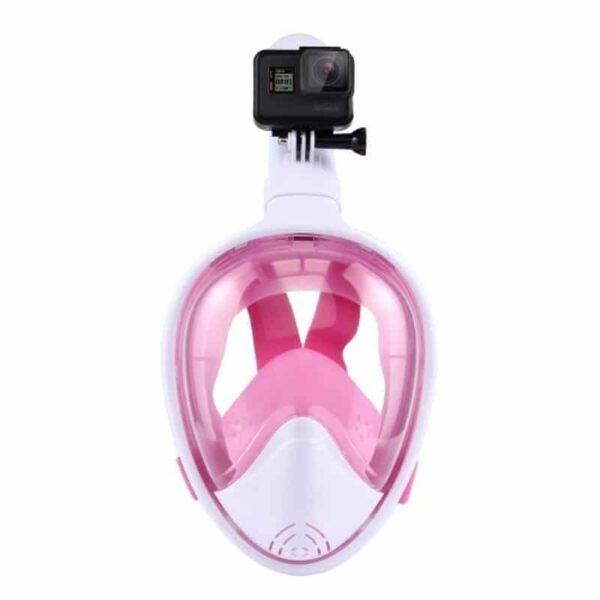 34221 - Дайвинг-маска PULUZ 260 мм - крепление для экшн-камеры, вентиляция, двойной воздушный канал, клапан на дыхательной трубке