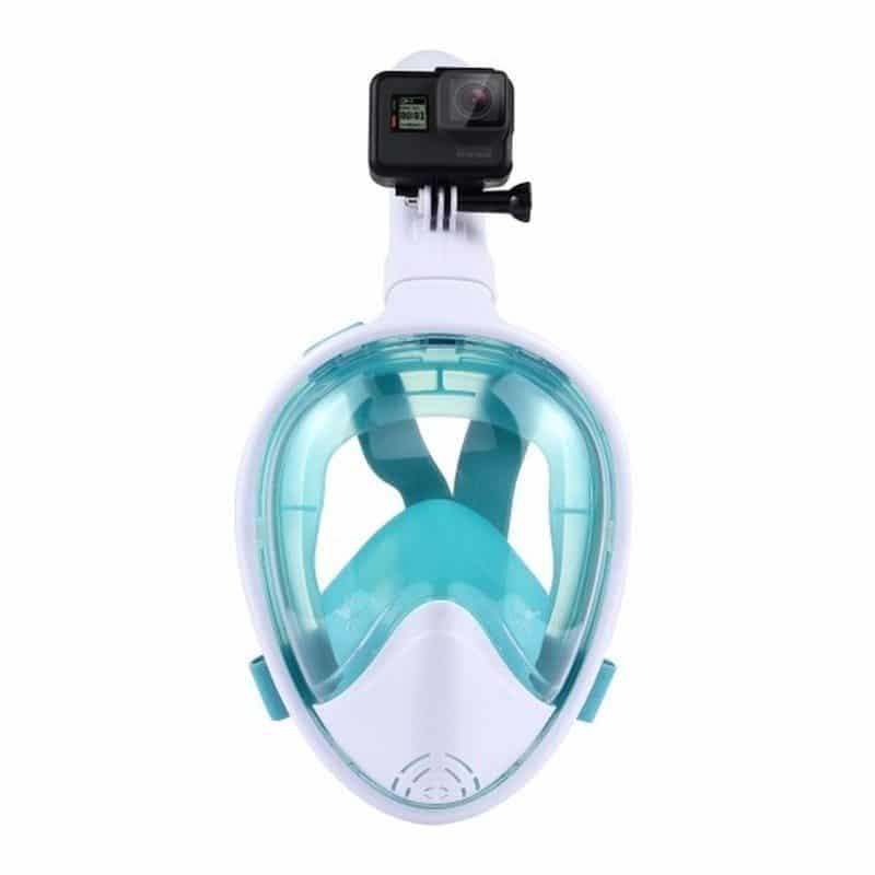 Дайвинг-маска PULUZ 260 мм – крепление для экшн-камеры, вентиляция, двойной воздушный канал, клапан на дыхательной трубке