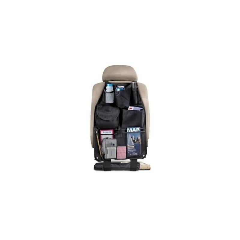 Органайзер на спинку сиденья автомобиля S-1633 с 6 карманами и держателем для зонта (черный)