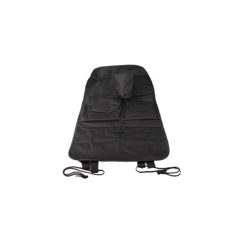 Органайзер на спинку сиденья автомобиля S-1633 с 6 карманами и держателем для зонта (черный) 185186