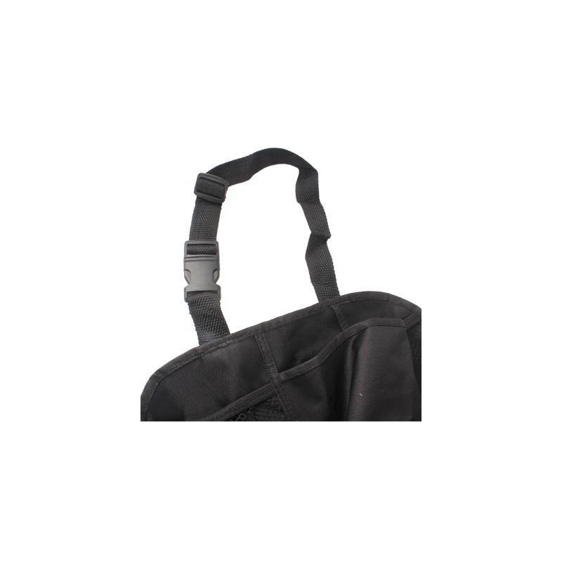 Органайзер на спинку сиденья автомобиля S-1633 с 6 карманами и держателем для зонта (черный) 185189