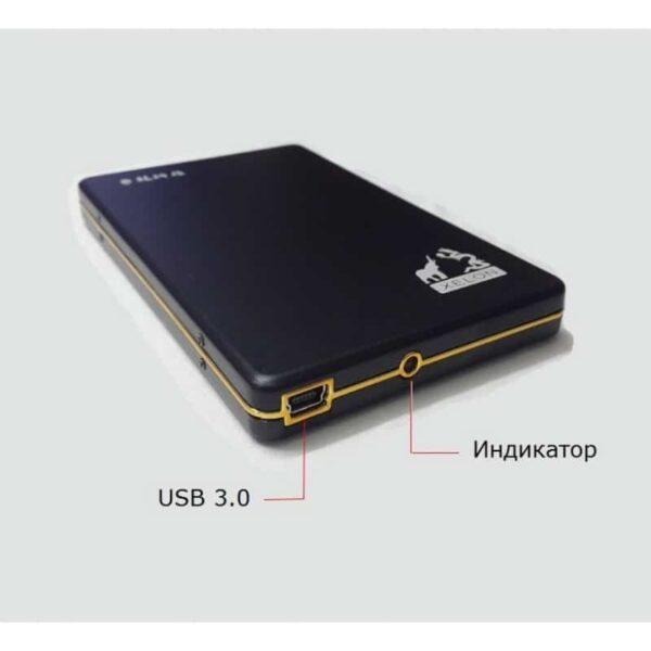 34310 - Портативный внешний жесткий диск Dragon XL USB 3.0 - металлический корпус, кэш 16 Мб, обороты 5400