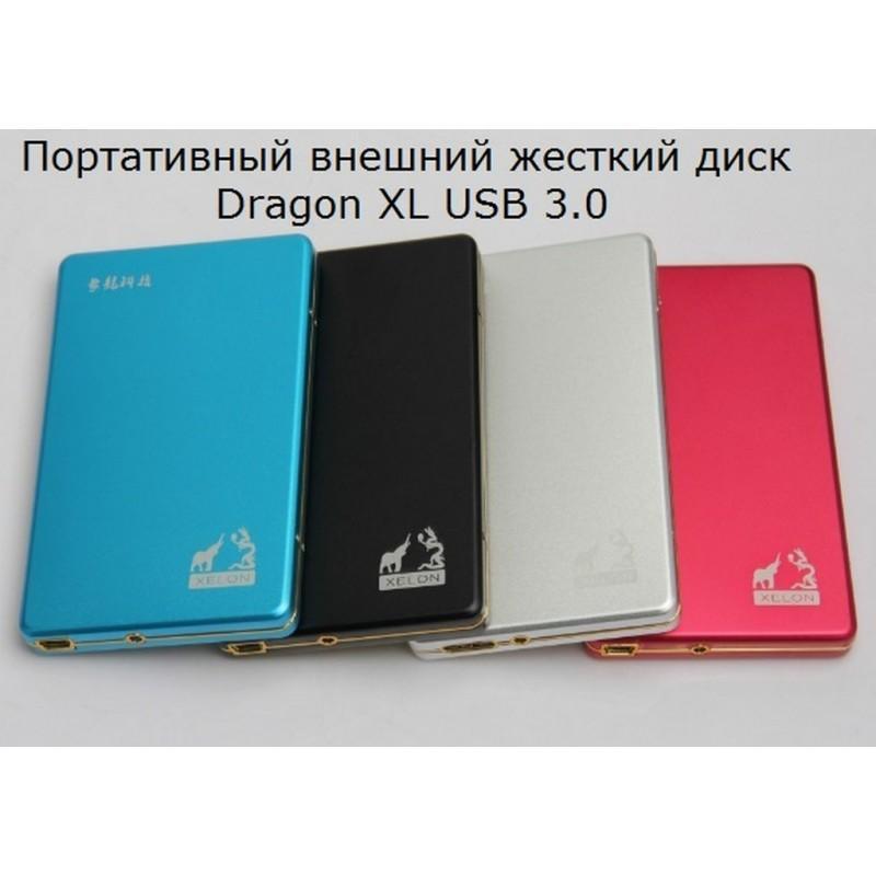 34312 - Портативный внешний жесткий диск Dragon XL USB 3.0 - металлический корпус, кэш 16 Мб, обороты 5400