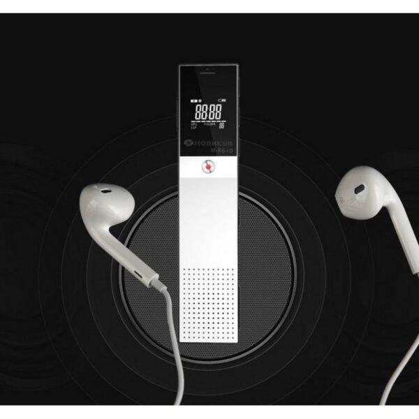 34361 - Цифровой диктофон H-R610 с картой памяти - до 165 часов записи, быстрая зарядка, шумоподавление, запись по таймеру, OLED экран