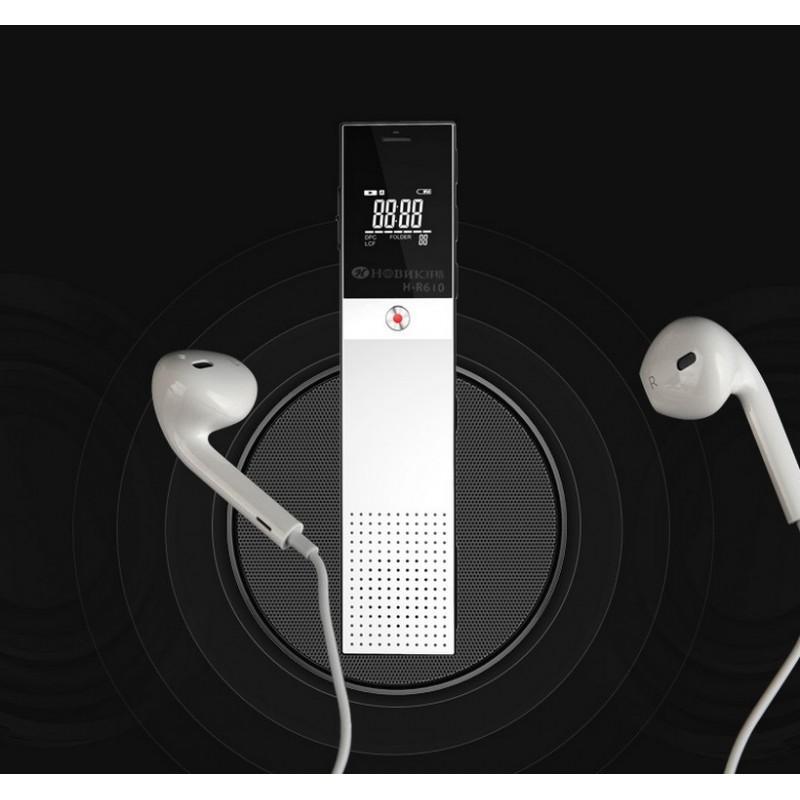 Цифровой диктофон H-R610 с картой памяти – до 165 часов записи, быстрая зарядка, шумоподавление, запись по таймеру, OLED экран 210607