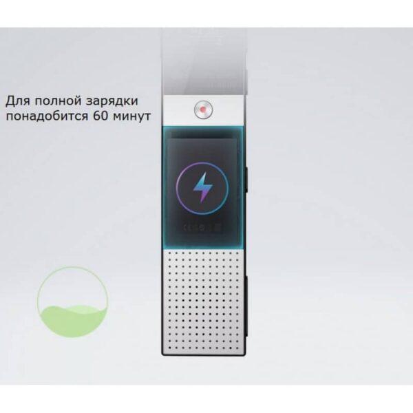 34363 - Цифровой диктофон H-R610 с картой памяти - до 165 часов записи, быстрая зарядка, шумоподавление, запись по таймеру, OLED экран