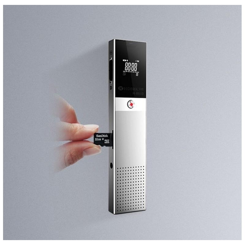 Цифровой диктофон H-R610 с картой памяти – до 165 часов записи, быстрая зарядка, шумоподавление, запись по таймеру, OLED экран