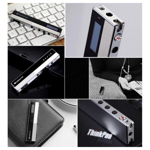 34366 - Профессиональный диктофон H-R100 - до 75 часов записи, шумоподавление, двойной микрофон, OLED экран, FM-радио