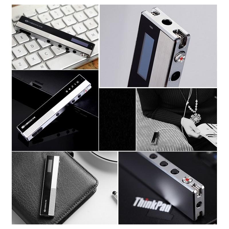 Профессиональный диктофон H-R100 – до 75 часов записи, шумоподавление, двойной микрофон, OLED экран, FM-радио 210611