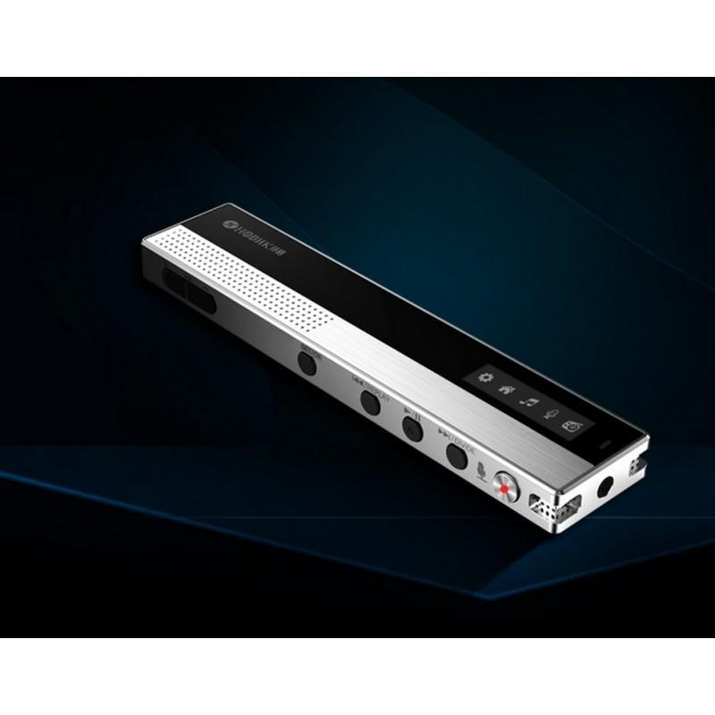 Профессиональный диктофон H-R100 – до 75 часов записи, шумоподавление, двойной микрофон, OLED экран, FM-радио