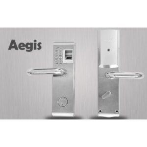 Левосторонний биометрический замок Aegis – датчик отпечатков пальцев, ключ, код