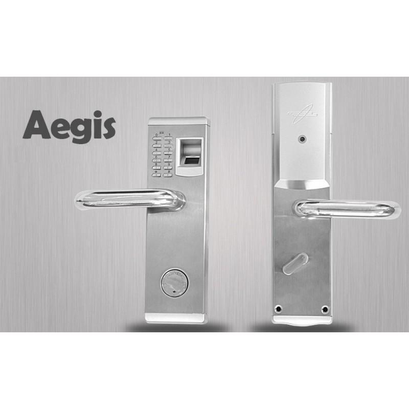 34374 - Левосторонний биометрический замок Aegis - датчик отпечатков пальцев, ключ, код