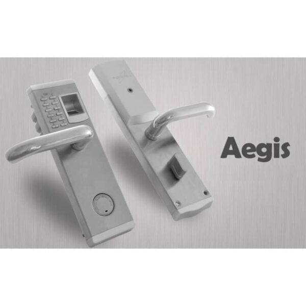 34376 - Левосторонний биометрический замок Aegis - датчик отпечатков пальцев, ключ, код