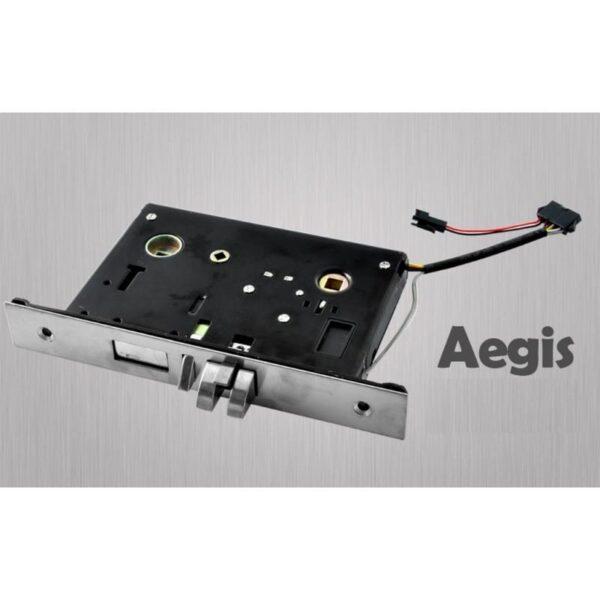 34377 - Левосторонний биометрический замок Aegis - датчик отпечатков пальцев, ключ, код