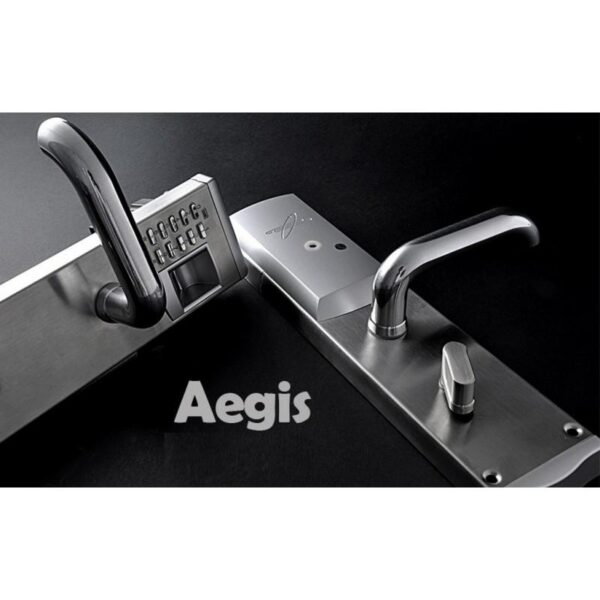 34380 - Левосторонний биометрический замок Aegis - датчик отпечатков пальцев, ключ, код