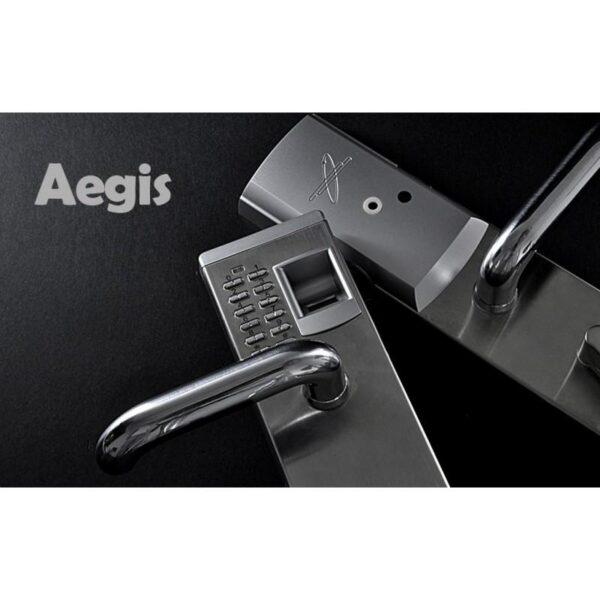 34381 - Левосторонний биометрический замок Aegis - датчик отпечатков пальцев, ключ, код
