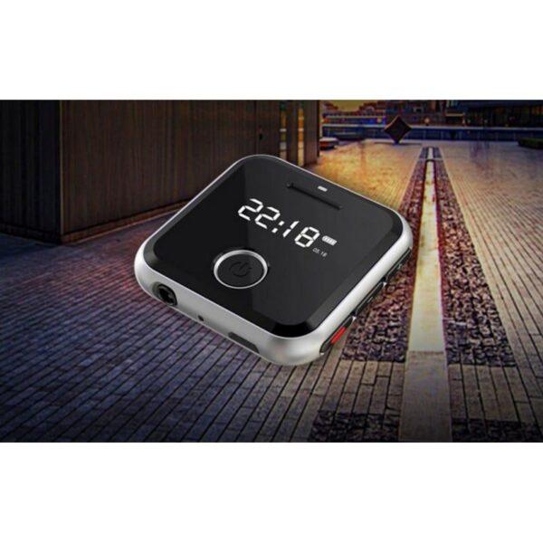 34391 - Маленький плеер Ring H-R300 с функцией записи - до 32 Гб, FM-радио, 0.91-дюймовый OLED экран, микрофон