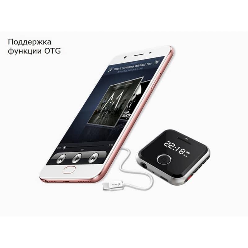 Маленький плеер Ring H-R300 с функцией записи – до 32 Гб, FM-радио, 0.91-дюймовый OLED экран, микрофон 210640