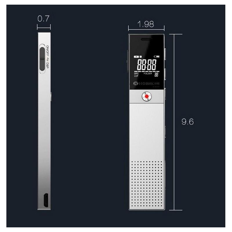 Диктофон Ring H-R600 – интеллектуальное шумоподавление, 8 Гб и 16 Гб, lossless звук 210653