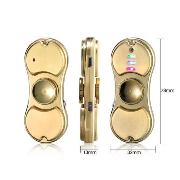 34440 - Спиннер/ игрушка-антистресс (гироскопический тренажер) для рук со встроенной USB-зажигалкой