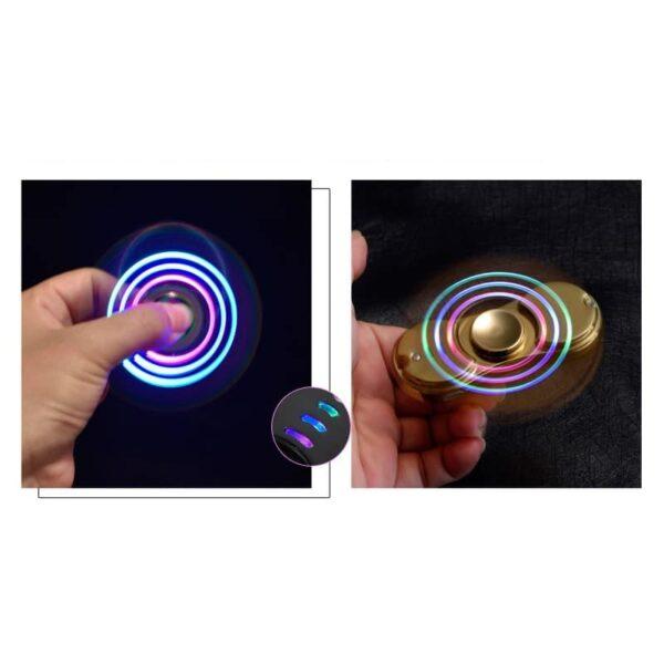 34442 - Спиннер/ игрушка-антистресс (гироскопический тренажер) для рук со встроенной USB-зажигалкой