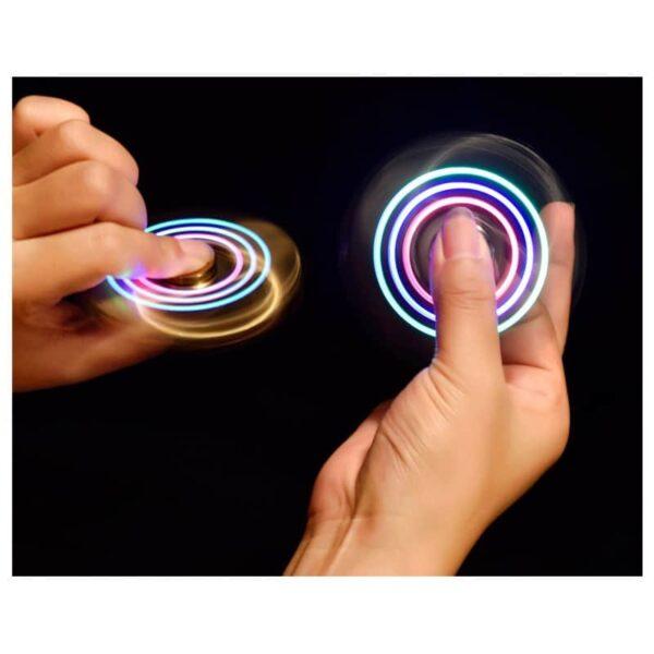 34446 - Спиннер/ игрушка-антистресс (гироскопический тренажер) для рук со встроенной USB-зажигалкой