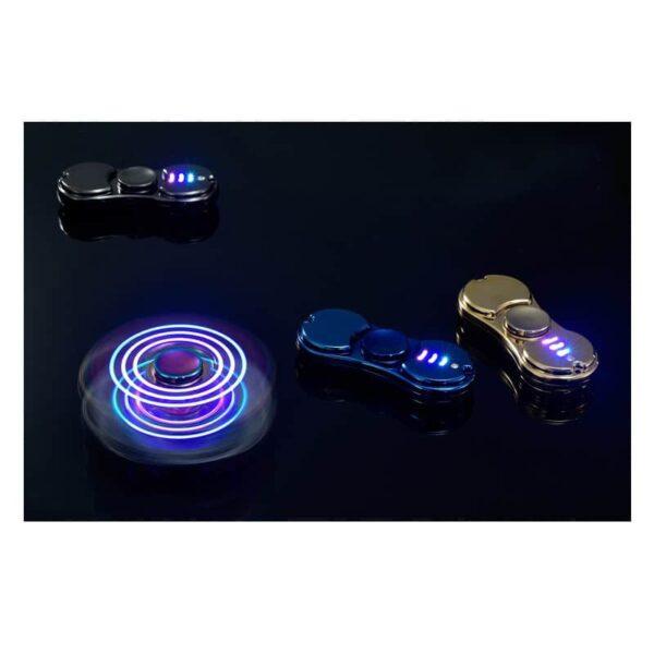34447 - Спиннер/ игрушка-антистресс (гироскопический тренажер) для рук со встроенной USB-зажигалкой