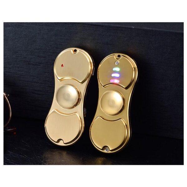 34449 - Спиннер/ игрушка-антистресс (гироскопический тренажер) для рук со встроенной USB-зажигалкой